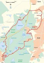 Streckenplan (Karte: www.cartomedia-karlsruhe.de)
