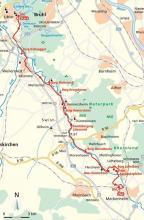Streckenplan: (Karte: www.cartomedia-karlsruhe.de)