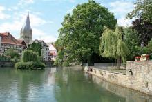 Der Große Teich in Soest: Man pendelt zwischen Wasser und Fachwerk. (Foto: Thilo Scheu)