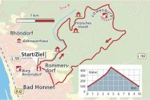 Streckenplan: (Karte: Barbara Köhler)