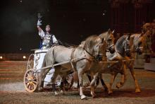 Wie im alten Rom: Antikes Pferderennen bei Ben Hur Live 2011 in der Lanxess-Arena
