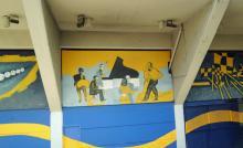 Sogar im Fußballstadion der Boca Juniors wird Tango getanzt