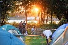 Hotelkosten sparen: Das Gamescom Camp im Jugendpark