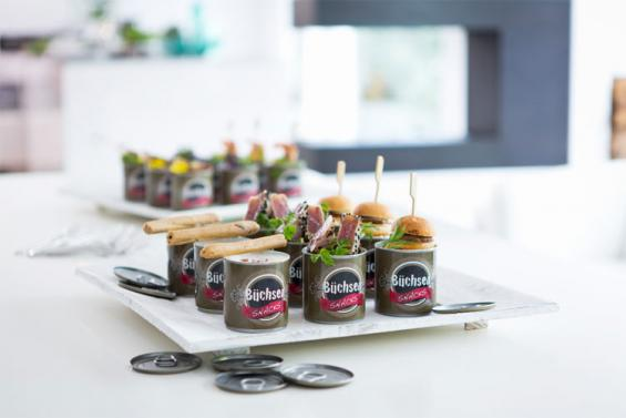 Ausgefallene Snacks. Foto: Catalogna Cologne Catering