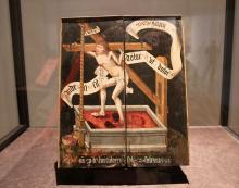 """""""Christus in der Kelter"""": Gemälde aus dem frühen 16. Jahrhundert, Leihgabe des Mittelrhein-Museums Koblenz. Foto: Jürgen Schön"""