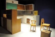 Eine Küche, von Le Corbusier gestaltet. (Foto: dapd)