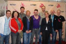 Die Macher des Kölner Schwulen- und Lesben-Events bei der Pressekonfernz am 9. Mai 2012 (Foto: Viola Niedenhoff)