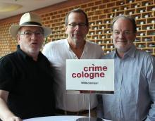 Laden zur ersten Crime Cologne ein: Edgar Franzmann, Achim Mantscheff und Hejo Emons. Foto: Jürgen Schön