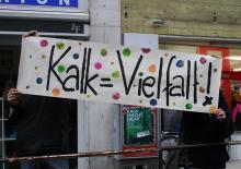 Protest gegen fremdenfeindliche Parolen in Kalk. (Foto: red.)