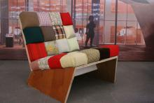 "Komplett recyclet: ""Pixelstar""-Sessel von Oliver Schübbe (Foto:Julia Schmitz)"