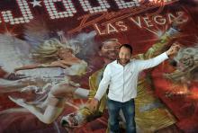 """DJ Bobo auf Promotour für seine Show """"Dancing Las Vegas"""". (Foto: Helmut Löwe)"""