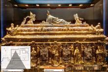 Beim virtuellen Rundgang können Besucher zum Beispiel den Schreib von Kölns erstem Erzbischof genauer betrachten. (Screenshot: www.koelner-dom.de)