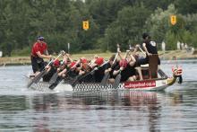 """Beim Drachenbootrennen geht es um """"Spaß-an-der-Freud""""."""