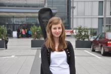 Milena Buck ist für das Casting aus dem fernen Schrecksbach in Hessen angereist. (Foto: Ronja Gasper)