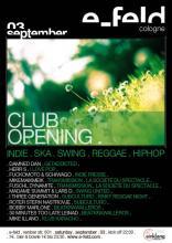 Der Flyer zur Opening-Party am Samstag. (Quelle: www.e-feld.com)