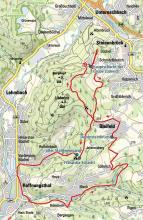 Tour: Erzbergbau im Bensberger Revier Streckenskizze (Bachem-Verlag)