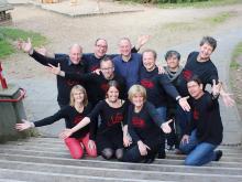 """Gehen in ihre 22. Session: Das (hier nicht komplette) Team von """"Fatal Banal"""". Foto: Jürgen Schön"""