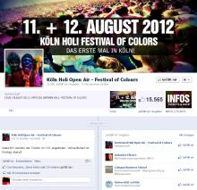 """Köln Holi Open Air - Festival of Colours"" auf Facebook."