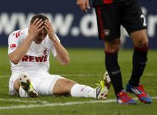 Lukas Podolski kann es nicht fassen. (Foto: dapd)