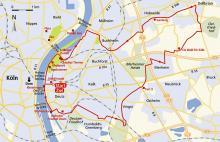 Radtour: Deutz und sein Land Streckenskizze (Bachem-Verlag)