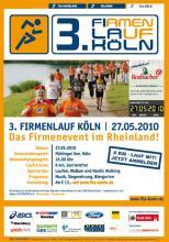 Der Flyer des 3. Firmenlauf Köln (Quelle: www.fila-koeln.de)