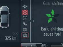 """Auch die Ford-Fahrer sollen zur Umweltschonung beitragen: Der """"ECO-Mode"""" etwa kann das wirtschaftliche Fahren erleichtern."""