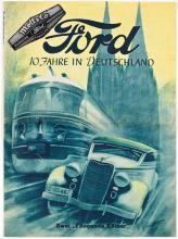 """In den 40er Jahren kam Ford aus Köln, nicht aus den USA. In dieser Zeit wurde statt der """"Ford-Pflaume"""" auch ein Logo mit dem Kölner Dom benutzt. Repro: Rheinisches Bildarchiv Köln, Wolfgang Meier"""