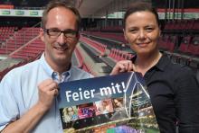 Michael Lohaus und Maria Derfuß: haben in den drei Wochen bis zur Eröffnungsfeier noch viel zu tun. (Foto: Helmut Löwe)