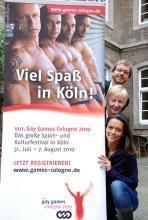 Armin Lohrmann und Annette Wachter, Gay-Games-Macher, sowie Gay-Games-Botschafterin Yvonne de Bark (v. o. n. u.): fiebern dem großen Sportereignis entgegen. (Foto: Helmut Löwe)