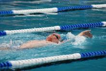 Schwimmwettbewerb der Gay Games: Im Sommer 2010 war die (Finanz)Welt noch in Ordnung. (Foto: Helmut Löwe)