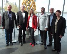 Die Veranstalter der Kölner Genusstage v.l.n.r.: Rumold Dany, Klaus H. Schopen, Sylvia Paul, Hanns-Georg Kupky, Hans-Dieter und Barbara Gärtner (Foto: C. Rentrop)