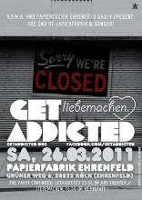 Der Flyer zur Party. (Quelle: facebook.com/getaddicted)