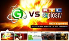 Das Unterhaltungsportal GIGA antwortet RTL mit einem ironischen Video u.a. über die Mitarbeiter des Senders.