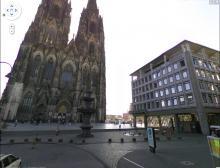 Der Kölner Dom betrachtet mit Google Street View. (Quelle: Street View)
