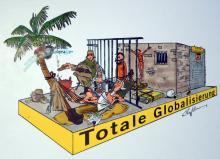 Totale Globalisierung heißt der Wagen von Werner Blum und Thomas Willmann