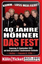 Die Höhner-Fans erwartet ab 14 Uhr ein achtstündiges Nonstop-Programm