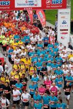 Beim HRS-Businessrun laufen bis zu 10.000 Teilnehmer durch den Stadtwald.