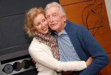 Last und seine Frau Christine: sie treibt ihn beim Sport an. (Foto: Helmut Löwe)