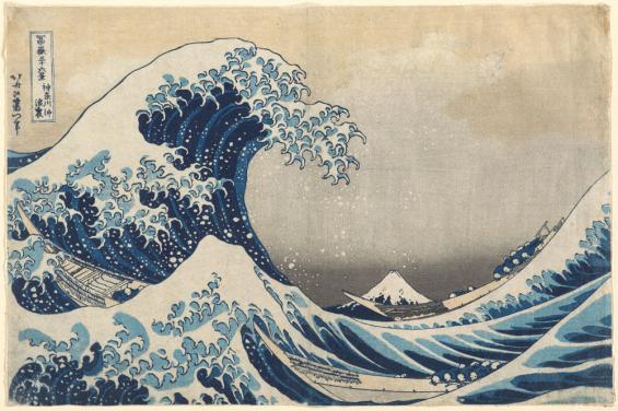 """Die Ikone japanischer Holzschnittkunst: Kasushika Hokusais """"Große Woge an der Küste von Kanagawa"""" (1830). © RBA / Museum für Ostasiatische Kunst Köln"""