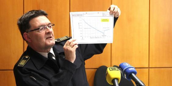Johannes Feyrer, Chef der Kölner Berufsfeuerwehr, erklärt das aktuelle Gutachten. Foto: Jürgen Schön