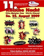 Die Kölsche Nacht 2009: Am 22. August am Otto-Maigler See (Foto: Funken Rot-Weiss Hürth Gleuel)