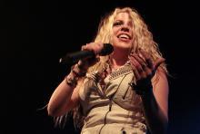 """Brittany """"Kobra"""" Paige: eine der wenigen Frauen im Metalbusiness. (Foto: Helmut Löwe)"""