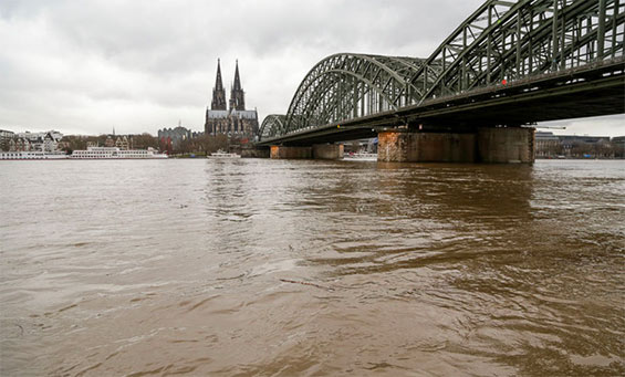 Hochwasser Rhein Köln
