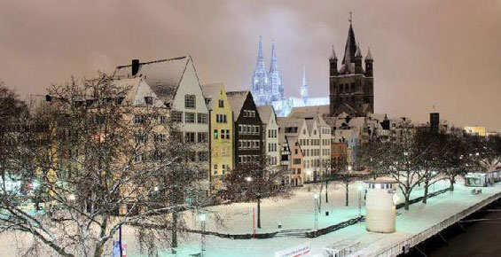 Köln im Winter Foto: https://www.facebook.com/kolnerdom