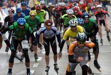 Erfreut sich zunehmender Beliebtheit: die Marathonstrecke auf acht Rollen bewältigen. (Foto: ddp)