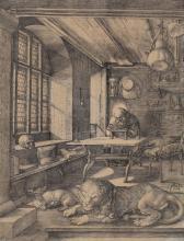 Dürer (1471-1528) Der Heilige Hieronymus im Gehäus, 1514 Kupferstich
