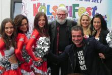 In Vorfreude aufs Kölschfest: Cheerleader des 1. FC Köln, King Size Dick, die Domhätzjer und Linus.