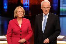 TV-Duell in Köln: Hannelore Kraft, Jürgen Rüttgers Foto: ddp