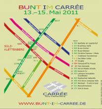 Die Übersichtskarte der teilnehmenden Geschäfte. (Bild: Design-Büro Knüppel + Hoeft)