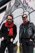 Ville Malja (li.) und Anssi Nordberg: Sänger und Gitarrist sowie Bassist der finnischen Band Lapko. (Foto: Helmut Löwe)